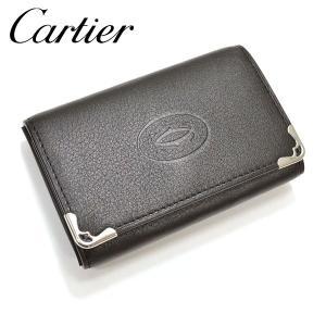 Cartier【カルティエ】6連キーケース/キーホルダー/マスト ドゥ カルティエ【サイズ/F/】yct002【L3001359:ブラック】【Y45,360-】