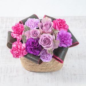 母の日 カーネーション 花言葉 アレンジメント「ヴィオレノーブル」紫系  日比谷花壇