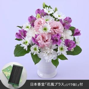 お供え用 アレンジメント「華香楽(はなかぐら)」線香付 日比谷花壇