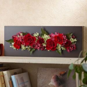 日比谷花壇 プリザーブドフラワー フレーム 「ローズブロッサム・パッションロッソ」|hibiyakadan