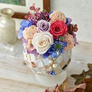 日比谷花壇 9月のバースストーンプリザーブドアレンジメント「サファイア」|hibiyakadan