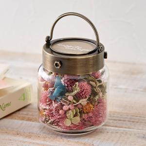 日比谷花壇 ドライフラワー Flower bottle 「アオ・アクア」 hibiyakadan