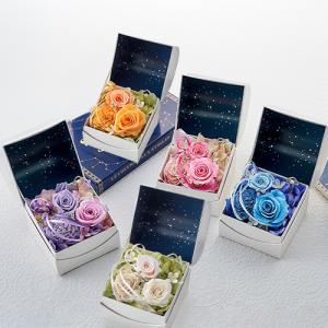 日比谷花壇 プリザーブドフラワー  5種類 選べる 「オルゴールフラワー(星に願いを)」|hibiyakadan