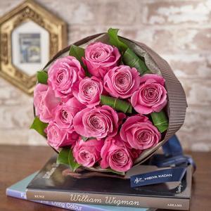 日比谷花壇 バラ ピンク 花束 品種指定『オールフォーラブ』12本 ダズンローズ|hibiyakadan