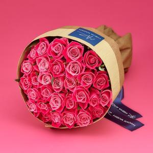 日比谷花壇 30本のピンクバラの花束「アニバーサリーローズ」 ピンク|hibiyakadan