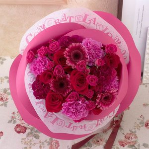 日比谷花壇 バラの形の花束 ペタロ・ローザ「セレブラール」|hibiyakadan