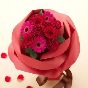 日比谷花壇 バラの形の花束 ペタロ・ローザ「モードレッド」|hibiyakadan