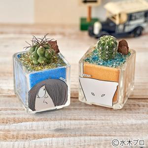日比谷花壇 ゲゲゲのお花 サンドアート2個セット(鬼太郎、一反もめん) 結婚祝い 結婚記念日|hibiyakadan
