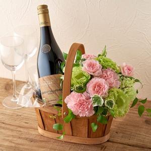 日比谷花壇 オーガニックワインとアレンジメントのセット|hibiyakadan