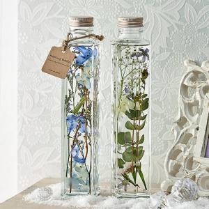 日比谷花壇 ハーバリウム Healing Bottle「Snowy&Rainy」2本セット hibiyakadan