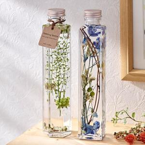 日比谷花壇 ハーバリウム Healing Bottle「Clear&Oasis」2本セット hibiyakadan