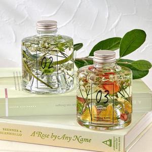 ハーバリウム Healing Bottle「WILLOW GREEN&SWEETIE ORANGE」2本セット