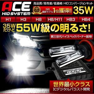 HID キット 35W ACE H1/H3/H7/H8/H11/HB3/HB4 HID フォグ [安心の1年保証][送料無料] 極薄 バラスト|hid-led-carpartsshop