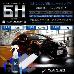 ガラスコーティング セット 超撥水 6H [ロクエイチ] 小型車用[30ml] 最高の輝きで 究極の持続力(送料無料) hid-led-carpartsshop