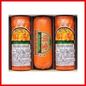 明宝ハム2本とポークソーセージ1本の3本詰合せセット(冷蔵)(送料無料)(明宝ハムでデイリーランキング2日連続1位獲得店)|hida-mino-furusato