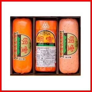 明宝ハム1本とポークソーセージ1本とパセリソーセージ1本の3本詰合せセット(冷蔵)(送料無料)(明宝ハムでデイリーランキング2日連続1位獲得店)|hida-mino-furusato