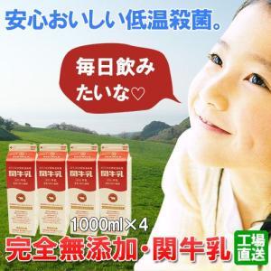 完全無添加、低温殺菌牛乳・関牛乳4本(1000ml×4本)(送料無料)|hida-mino-furusato