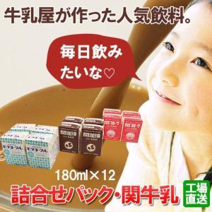 関牛乳詰合せパック(180ml×12本)(関珈琲・関フルーツ・ビタヨーグル)(送料無料)|hida-mino-furusato