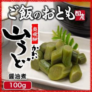 山菜 山うど醤油漬 100g ご飯のお供 国産|hida-yama-sachi