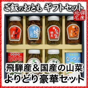ご飯のお供 山菜よりどり豪華ギフトセット(国産)|hida-yama-sachi