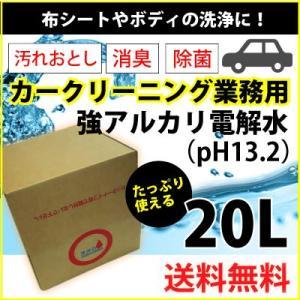 ヒダカ 強アルカリ電解水 pH13.2 20L カークリーニング業務用 レビュープレゼント対象