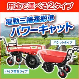 【送料無料】ホームクオリティ 電動三輪運搬車パワーキャット hidakashop