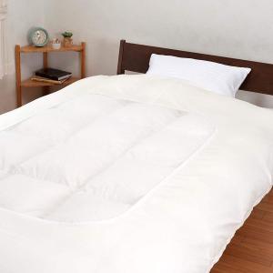 西川 綿100% 白/ホワイト 掛けカバー シングルロング 防縮加工 日本製|hidatakayama-store