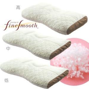 西川産業 ファインスムーズ 粒わた枕 ワイドサイズ 高さ調整可能 高め/普通/低め RC0067  EFA2181100 日本製|hidatakayama-store