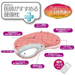 東京西川 医師がすすめる健康枕 もっと横楽寝 ピンク(中〜低)/ブルー(高〜中) EI9205|hidatakayama-store