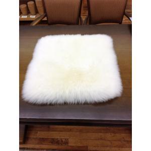 西川 ムートンクッション/シートクッション ウール 50×50cm 長毛|hidatakayama-store