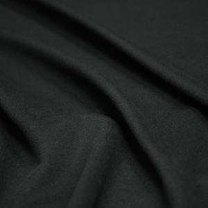 日本製 秋冬ウール フランネル 中薄〜中肉地 マットブラック H[オーダーカット生地 10cm単位]