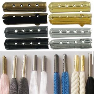 10個セット アグレット 4カラー 靴紐 シューレース チップ パイプ 先端 金具 スニーカー アクセサリー 部品 パーツ 先っぽ 金属【CH-1〜4】|hidekistore