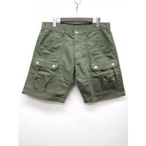 GINGAMP ギンガム Tool Shorts ツールショーツ ショートパンツ_OLIVE HERRINGBONE|hidingplace