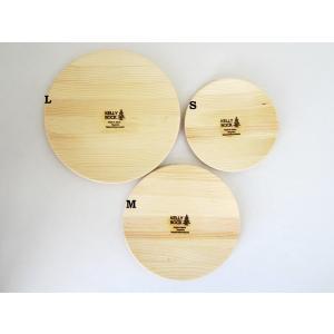 KELLY BOCK ケリーボック 木製ラウンドプレートM 木皿 ウッドラウンドプレート 松(宮城県産)|hidingplace