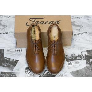 Fracap フラカップ F220 靴 シューズ ブラウンレザー|higashinishi