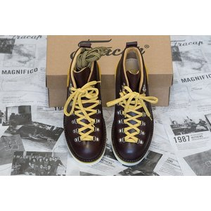 Fracap フラカップ マグニフィコ M120 スポイラーブーツ 靴 シューズ ブラウンレザー イエロースポイラー|higashinishi