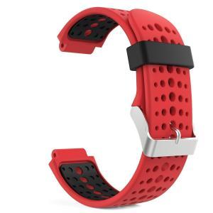 高級 シリコーン製腕時計ストラップ/バンド 交換ベルト RED(Garmin ForeAthlete 220/230/235/620/630/735に対応) higashiya