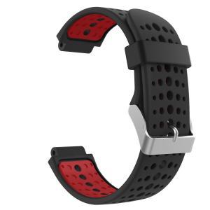 高級 シリコーン製腕時計ストラップ/バンド 交換ベルト Black & Red(Garmin ForeAthlete 220/230/235/620/630/735に対応) higashiya