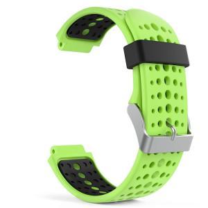 高級 シリコーン製腕時計ストラップ/バンド 交換ベルト Green & Black(Garmin ForeAthlete 220/230/235/620/630/735に対応) higashiya