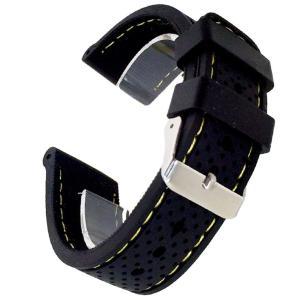 シリコン腕時計 ベルト 替えバンド 交換用リストバンド 着せ替え サイズ調整可能(ブラック, 18mm) higashiya