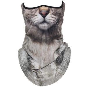 動物柄 フェイスマスク アニマル フルフェイスマスク バラクラバ 目出し帽 バイク、レーシングカー、サバイバルゲーム、コスプレ猫 higashiya