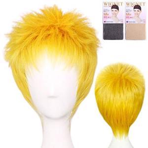 コスプレ ウィッグ コスプレ用ウィッグ 進撃の巨人 ライナー・ブラウン ショート 短髪 金髪 金色 ゴールド ブロンド higashiya