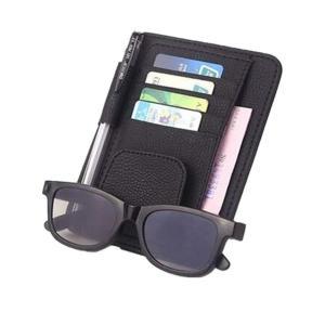 サンバイザー 収納 カード ホルダー サングラス サンバイザー ポケット