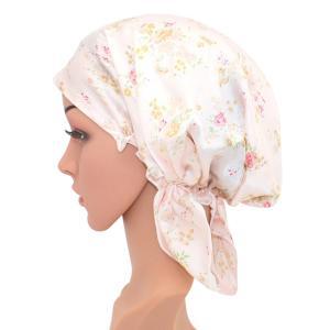 可愛いナイトキャップ シルクキャップ切れ毛予防 保湿 お休みキャップ シルク100% 産後用キャップ妊婦キャップ|higashiya