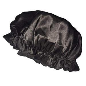 ナイトキャップ シルク100 ヘアキャップ シルクナイトキャップ 絹 シルク レディース つや 髪 トリートメント 保湿 就寝 おやすみヘアキャップ ブラック|higashiya