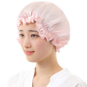 シルク ナイトキャップ シルク100% 髪 潤う ロングヘア対応 大判サイズ (ピンク)|higashiya