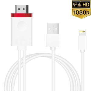 iPhone HDMI変換ケーブル Lightning HDMI変換アダプタ アイフォンDigita...
