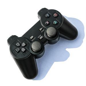 PC360 PS3互換 2.4Gワイヤレスコントローラー 社外 セット USB MicroUSBタイ...