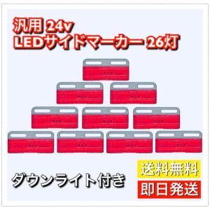 カラー:レッド(赤)  サイズ:10cm×5cm×1cm  薄型の為2tトラックにも違和感なく取り付...