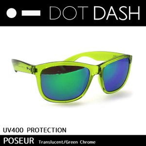 DOT DASH ドットダッシュ サングラス POSEUR/LIM/Lime Translucent/Green Chrome/AC217D05 日本正規品|highball